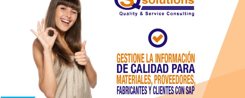 Con SAP controle todos los procesos de gestión de Calidad